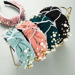 Mode breitkrempigen Perlen Stirnband Großhandel NHLN346068