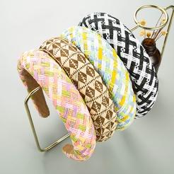 Mode geometrische Bast dicken Schwamm Stirnband Großhandel NHLN346070