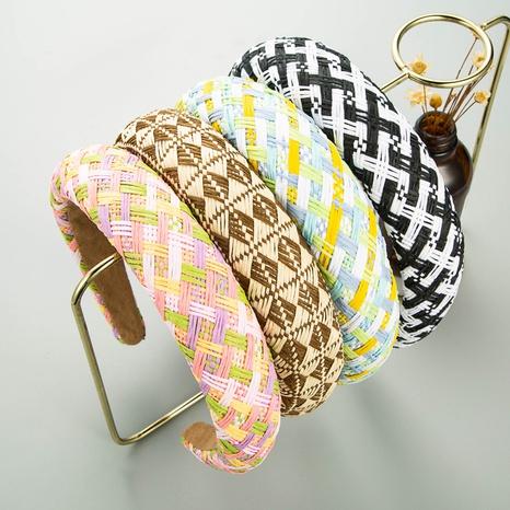 Mode geometrische Bast dicken Schwamm Stirnband Großhandel NHLN346070's discount tags