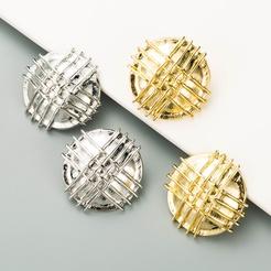 Großhandel Mode Metallschild geometrische Legierung Ohrringe NHLN346065