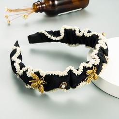 Mode Perle breitkrempigen diamantbesetzten Bienen Stirnband Großhandel NHLN346074