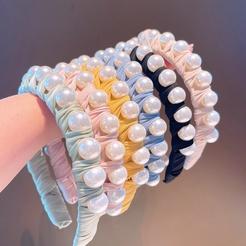 Korea einfarbige geometrische Perle Stirnband Großhandel NHHD345935