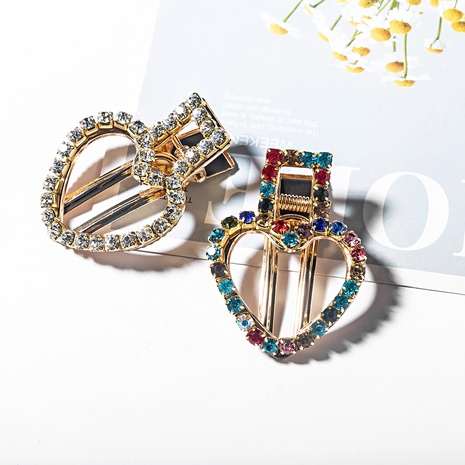 horquilla de aleación de cristal colorido geométrico de moda NHYAO346119's discount tags
