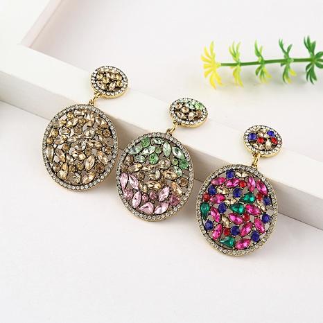 Pendientes de diamantes de imitación de aleación de gota geométrica de moda al por mayor NHYAO346120's discount tags