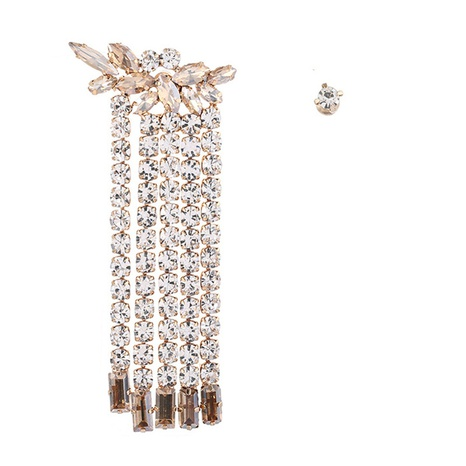 pendiente largo de la borla del chapado en diamantes de imitación de aleación de moda NHYAO346122's discount tags