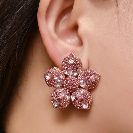 Pendientes de flores multicolores de diamantes de aleación de moda al por mayor NHYAO346127's discount tags