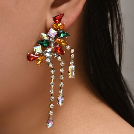 Al por mayor aretes de borlas de aleación de diamantes coreanos NHYAO346128's discount tags