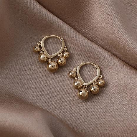 moda bola de oro corazón hebilla de oreja NHMS346181's discount tags