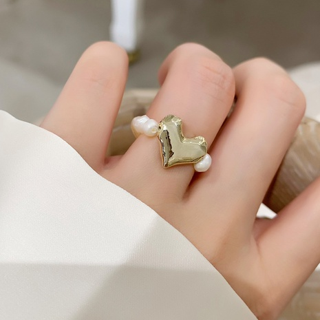 Al por mayor anillo de corazón de perlas de agua dulce de moda NHMS346187's discount tags