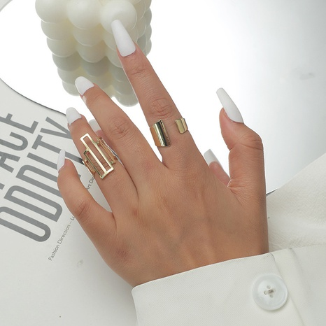 Al por mayor anillo de 2 piezas de aleación geométrica de moda NHKQ346196's discount tags