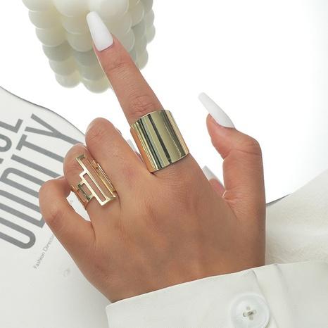 Al por mayor anillo de 2 piezas de aleación geométrica de moda NHKQ346197's discount tags