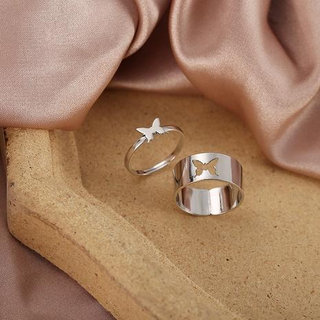conjunto de anillos de aleación de mariposa hueca de moda NHYI346224's discount tags