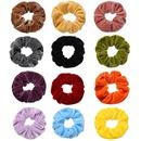 wholesale simple solid color velvet hair scrunchies NHYI346225