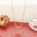 wholesale fashion diamond heart pendent necklace  NHYI346228