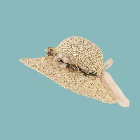 Fashion cute flower pineapple head crochet sunshade breathable straw hat NHTQ346261's discount tags