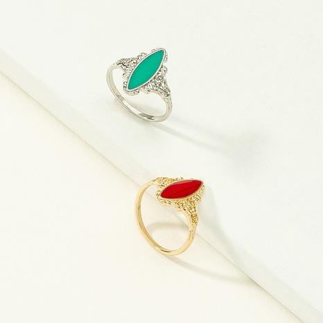 wholesale Conjunto de anillos de aleación de gemas con incrustaciones geométricas coreanas NHQJ346308's discount tags