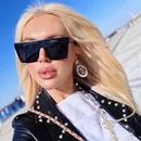 Fashion onepiece large frame square sunglasses wholesale NHLMO346351