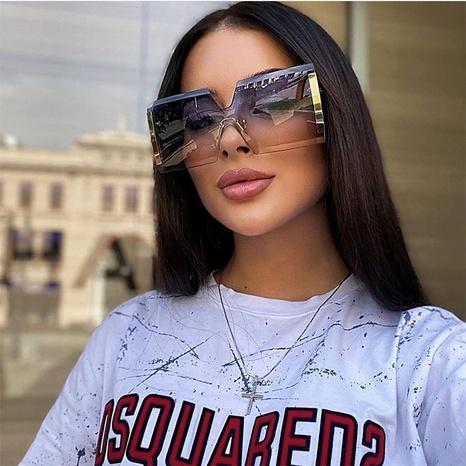 Fashion one-piece frameless diamond trim sunglasses wholesale NHLMO346359's discount tags