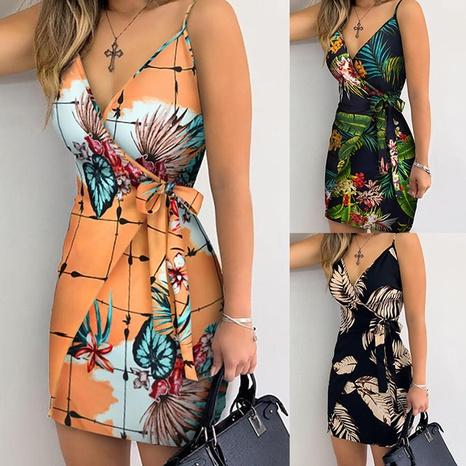 Summer sexy fashion suspender slim V-neck lace dress NHWA352747's discount tags