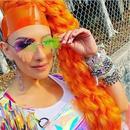 fashion colorful melting heart shape sunglasses  NHLMO346388