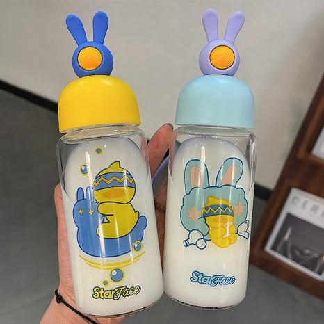 Venta al por mayor de cristal portátil linda de la taza de agua del pato del conejo de la moda NHtn346469's discount tags