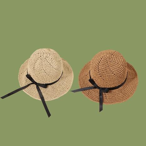 Fashion sunscreen sunshade breathable bowknot handmade straw hat  NHAMD346483's discount tags