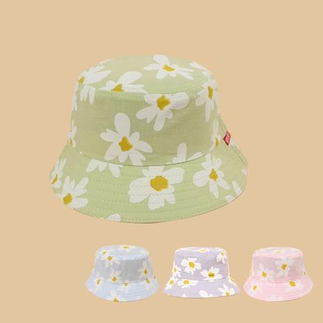 Mode daisy impression crème solaire à large bord enfants chapeau en gros NHAMD346498's discount tags