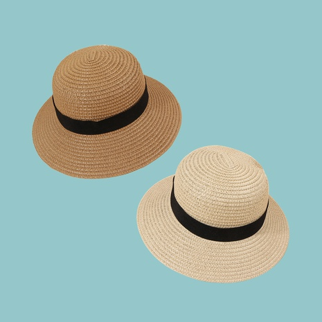 Coréen bowknot crème solaire parasol paille enfants chapeau en gros NHAMD346499's discount tags