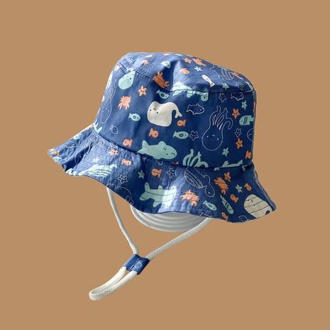 Mode mignon vie marine crème solaire parasol enfants chapeau en gros NHAMD346523's discount tags