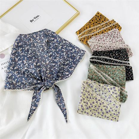 Al por mayor bufanda de seda de encaje triangular de impresión de moda NHMN346533's discount tags