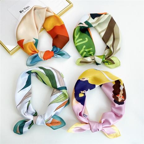 wholesale bufanda cuadrada pequeña de impresión en color de contraste de moda NHMN346534's discount tags