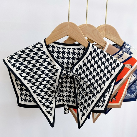 mantón anudado de la impresión de la tela escocesa del color del contraste de la moda NHMN346537's discount tags
