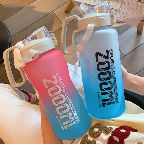 Plástico de gran capacidad de deportes de moda con botella de agua portátil de paja NHtn346466's discount tags