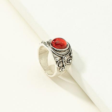 Al por mayor anillo de piedras preciosas con incrustaciones talladas geométricas retro NHQJ346309's discount tags