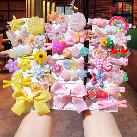 Horquilla para niños con flores de frutas coreanas NHCQ345678's discount tags