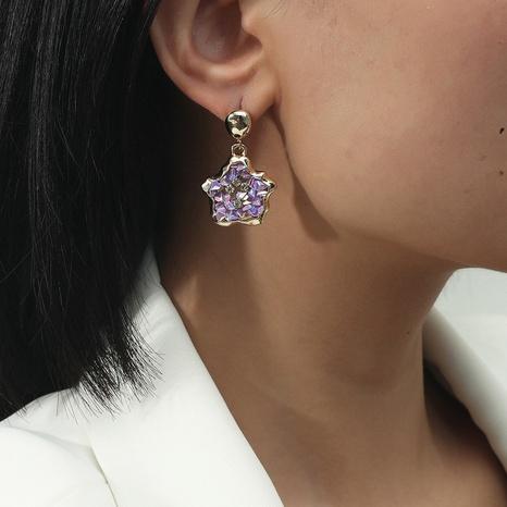Pendientes geométricos irregulares de grava de diamante de color retro para mujer NHQC349201's discount tags