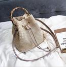 Sac en bambou seau nouveau sac de messager  une paule tiss en paille portable NHLH346836