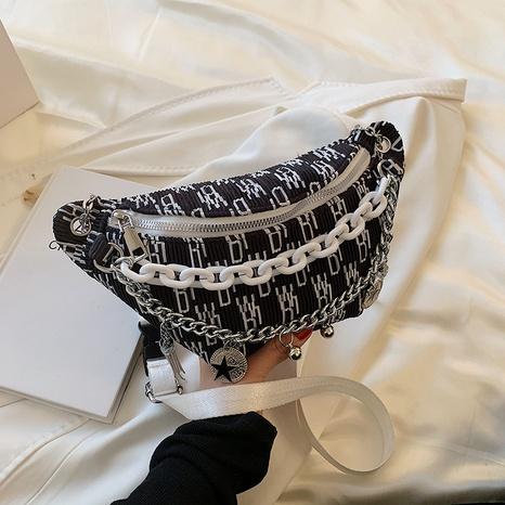 bolso de la cintura de la lona del bordado de la nueva moda coreana NHJZ346931's discount tags