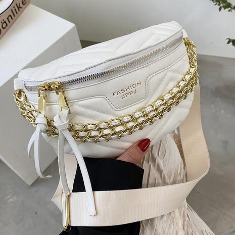 bolso de cintura de color sólido con cadena de empalme de moda NHTG346956's discount tags