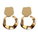 Fashion geometric metal disc alloy earrings wholesale NHWB346997
