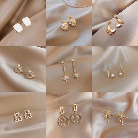 Pendientes finos redondos de borla larga de moda al por mayor NHWB347002's discount tags