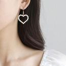 Fashion heartshape pearl alloy earrings wholesale NHWB347008