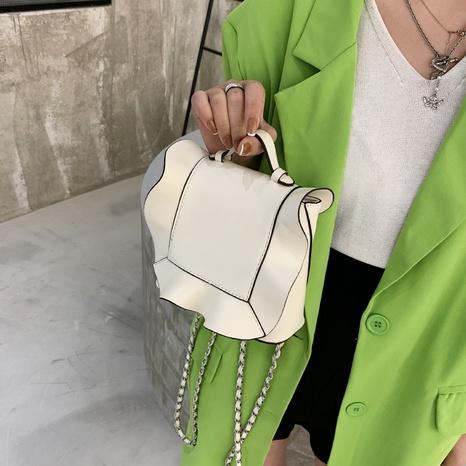 sac à bandoulière feuille de lotus à chaîne d'épissage de mode NHLH347209's discount tags