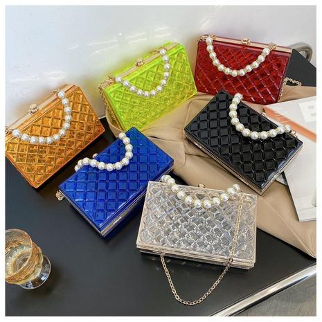 sac à bandoulière transparent avec poignée en perles NHLH347210's discount tags
