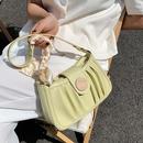 Wholesale fashion silk handle fold solid color messenger bag  NHLH347214