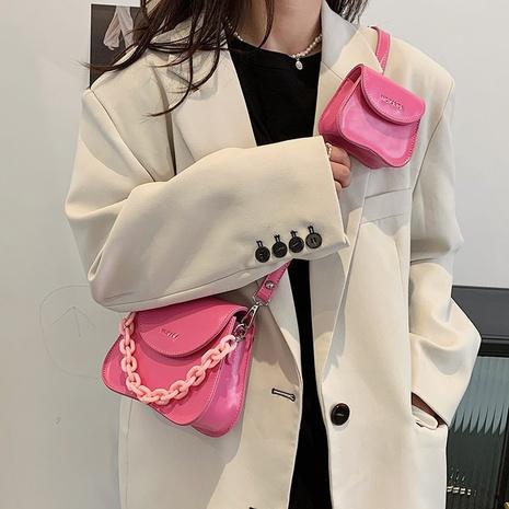 sac à bandoulière de couleur unie à chaîne acrylique simple NHLH347224's discount tags