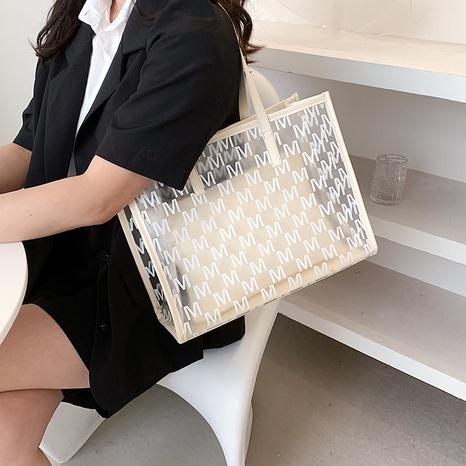 sac à bandoulière simple de grande capacité d'impression transparente de mode NHLH347229's discount tags