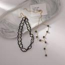 fashion black diamond Yshaped contrast color necklace NHMS347267