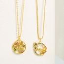 Fashion Mom letter lip copper inlaid zircon necklace wholesale NHLN347376
