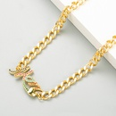 Fashion Mama letters copper inlaid zircon necklace wholesale NHLN347377